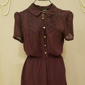 Forever 21 Deep Purple Collar Dress